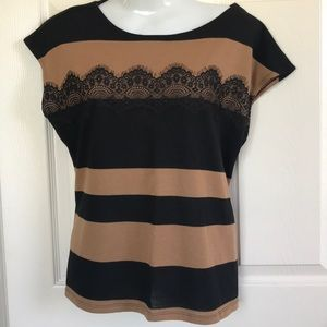 Brown and black blouse XL